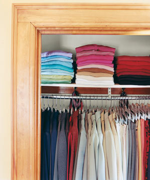 Color code your wardrobe inspirational closets real simple for How to color organize your closet