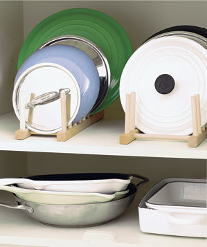 plate rack for organising kitchen pan lids