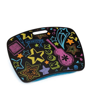 Neon Rock Lap Desk With Zip Pocket Cool School Supplies