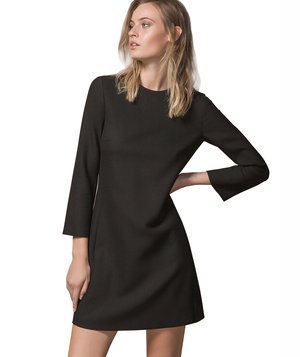 massimo-dutti-black-dress-belled-sleeves