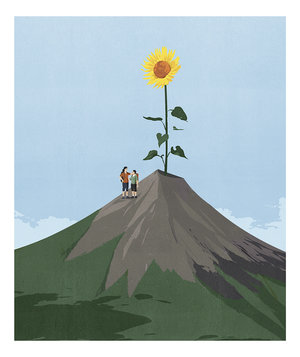 mother-son-mountain-flower