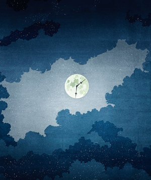moon-clock-face-night