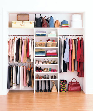 How to maximize your closet space real simple - Wardrobe solutions for small spaces paint ...