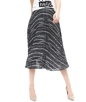 pleated-print-midi-skirt