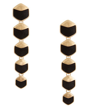 rachel-zoe-black-leather-gold-plated-geometric-earrings