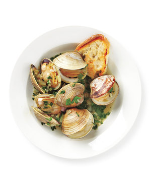 Steamed Clams With Parsley