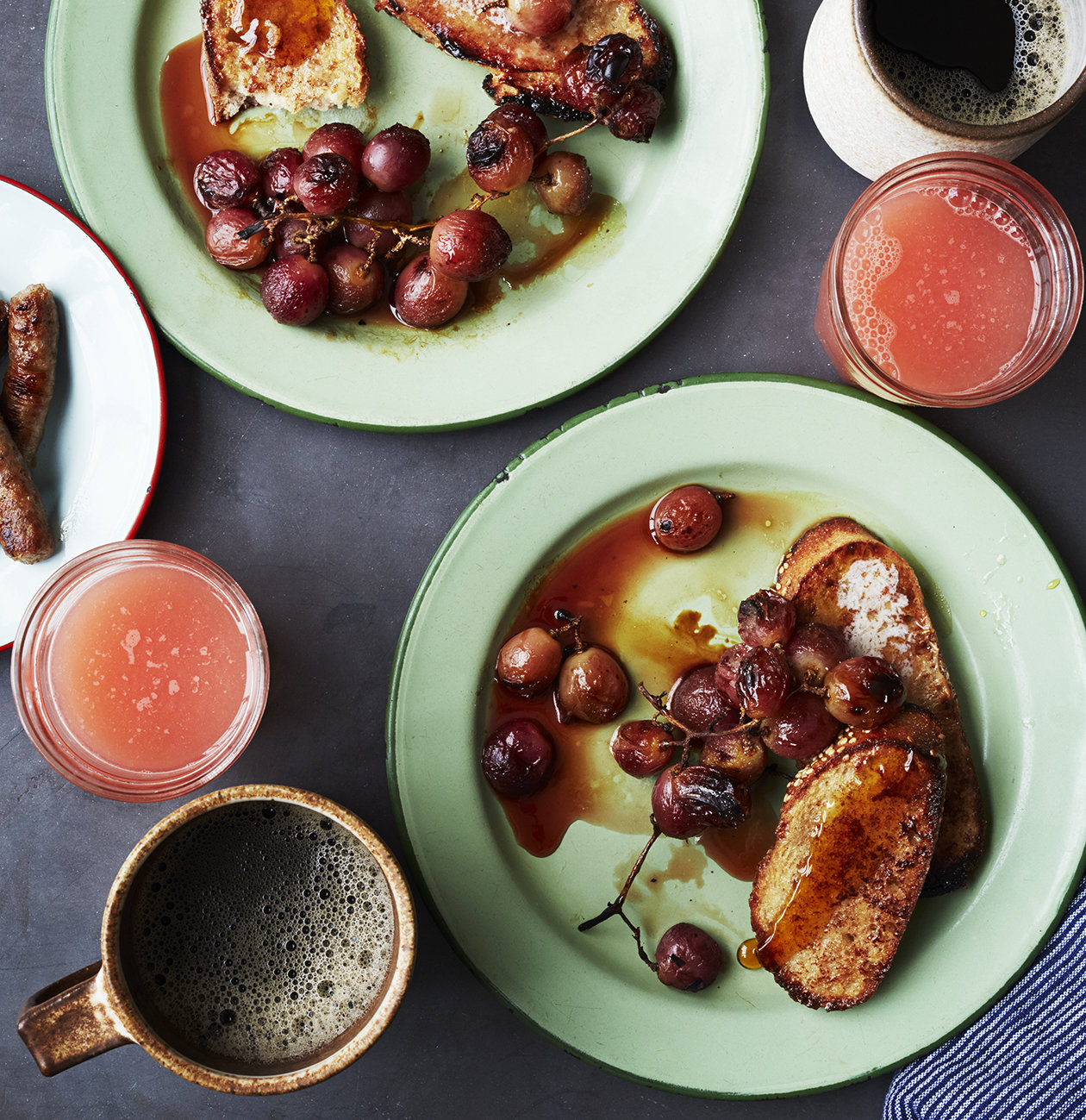 Whole-Grain Cinnamon French Toast With Broiled Grapes