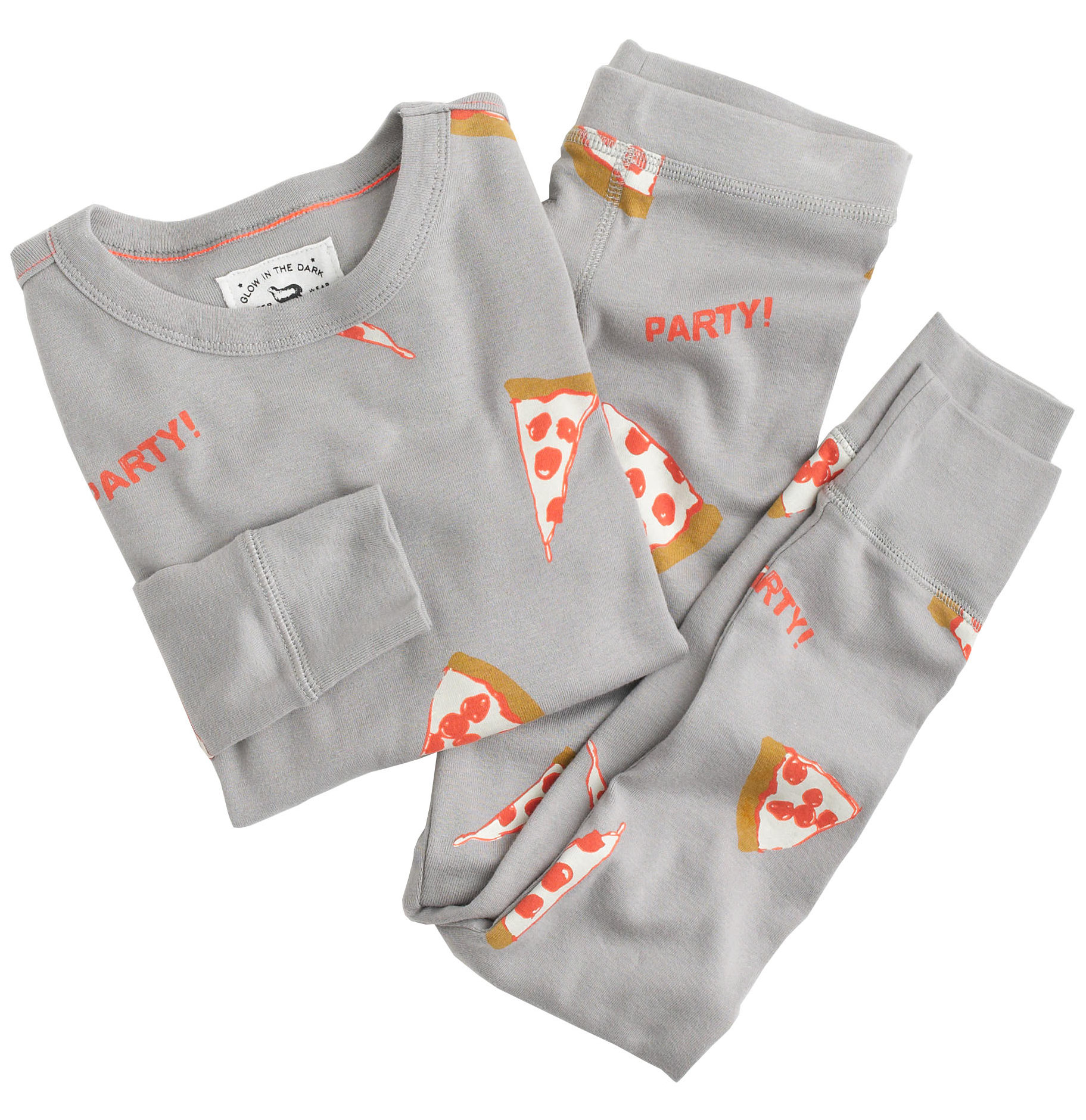 J.Crew Glow-in-the-Dark Pizza Party Pajamas 0de563ee6