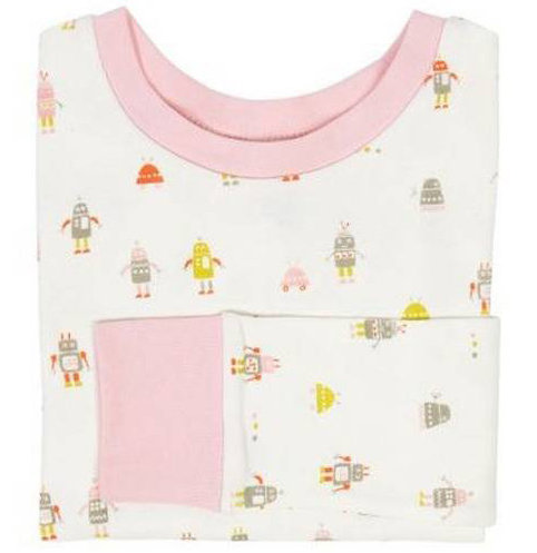 Little Auggie Girls Robot Pajamas 0686dfa6b