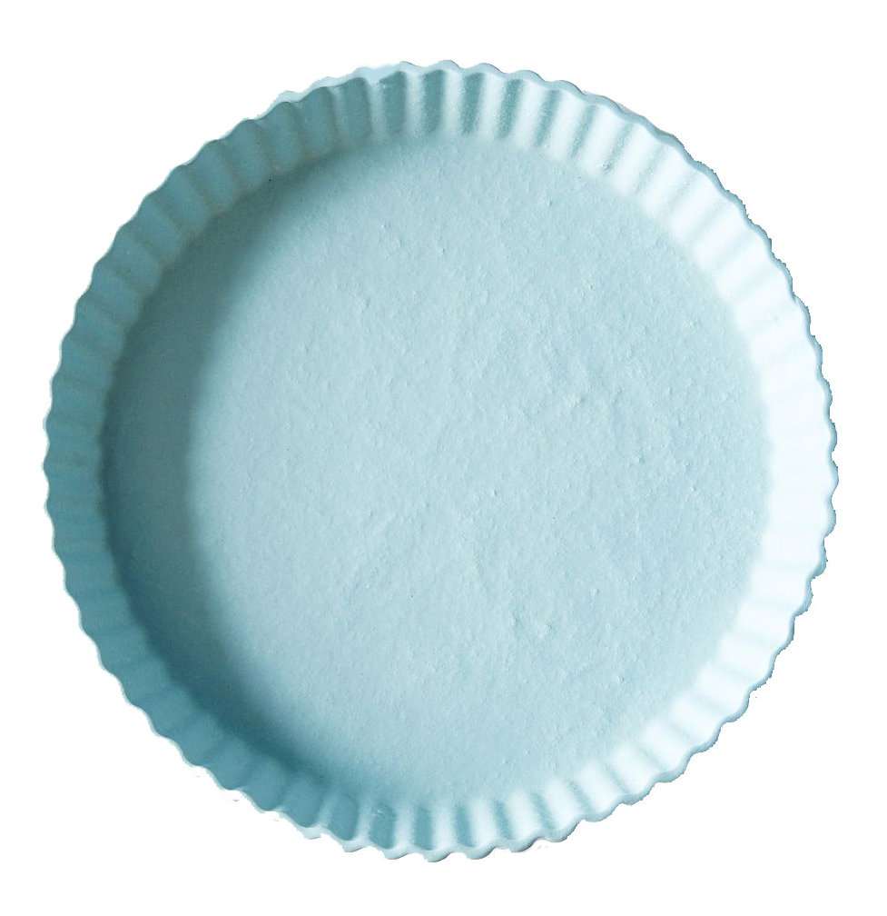 Heirloom Home and Studio Blue Tart Plate