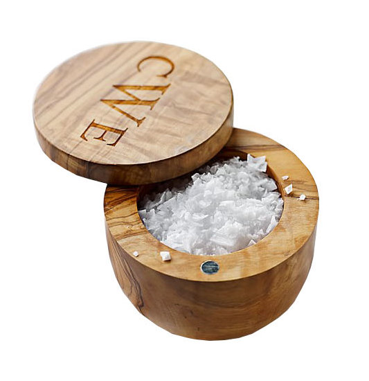 Williams-Sonoma Olivewood Salt Keeper
