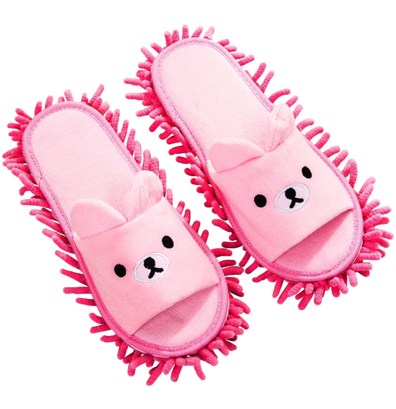 Best White Elephant Gifts: Bear Mop Slippers