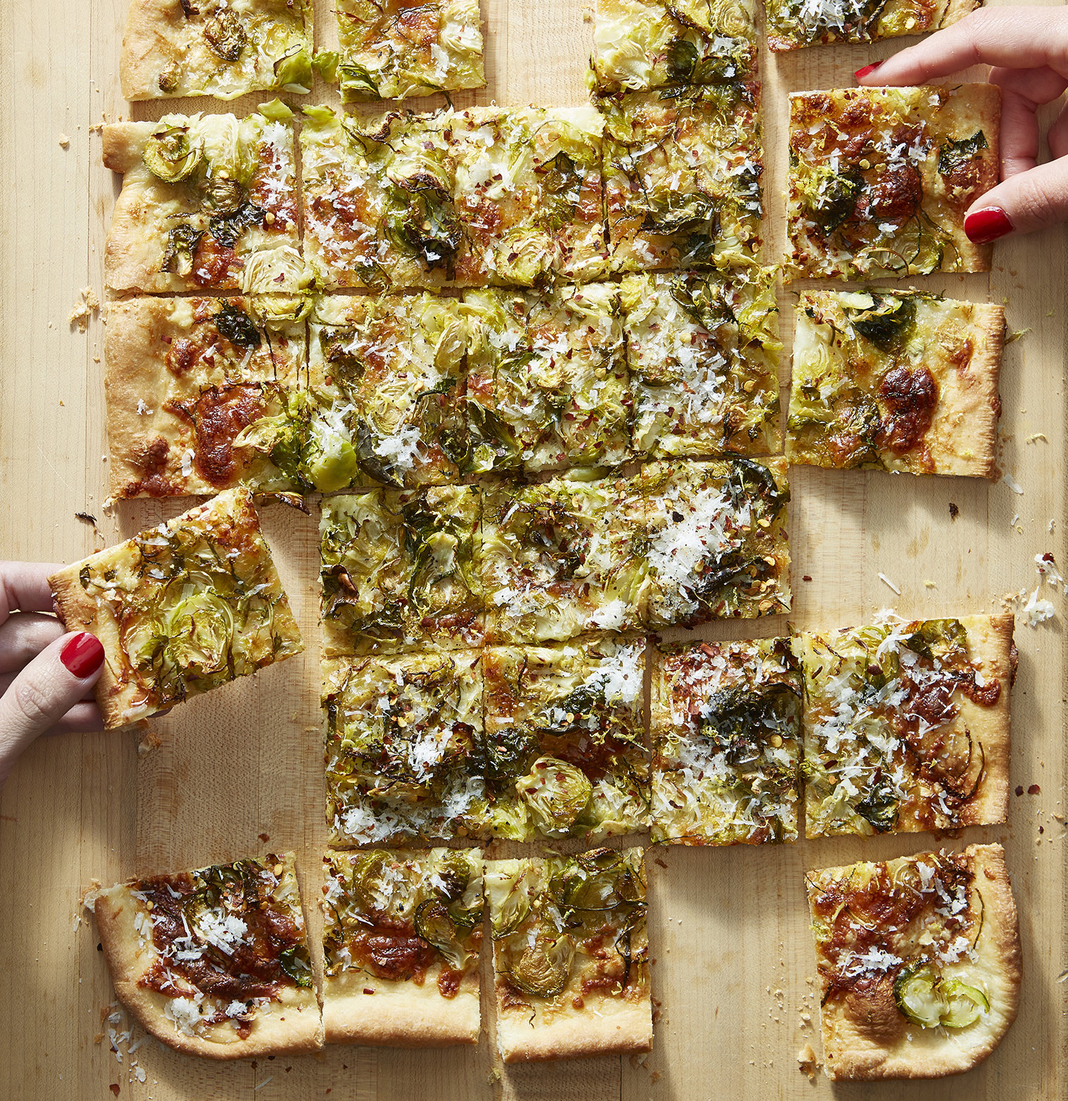 Brussels Sprout Pizza With Lemon and Pecorino (Engagement)