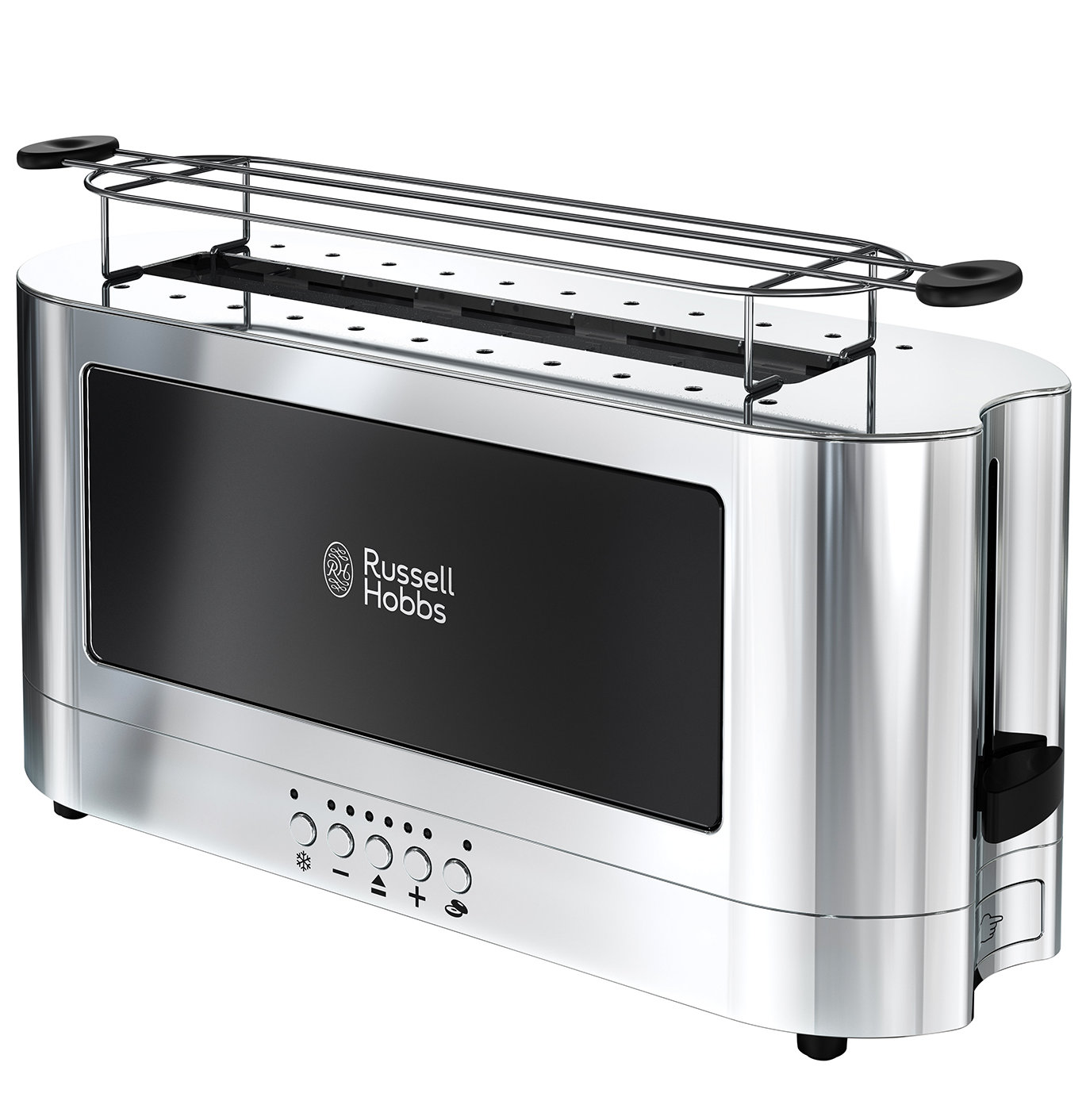 Russell Hobbs Glass Accent Long Slot 2-Slice Stainless Steel Toaster