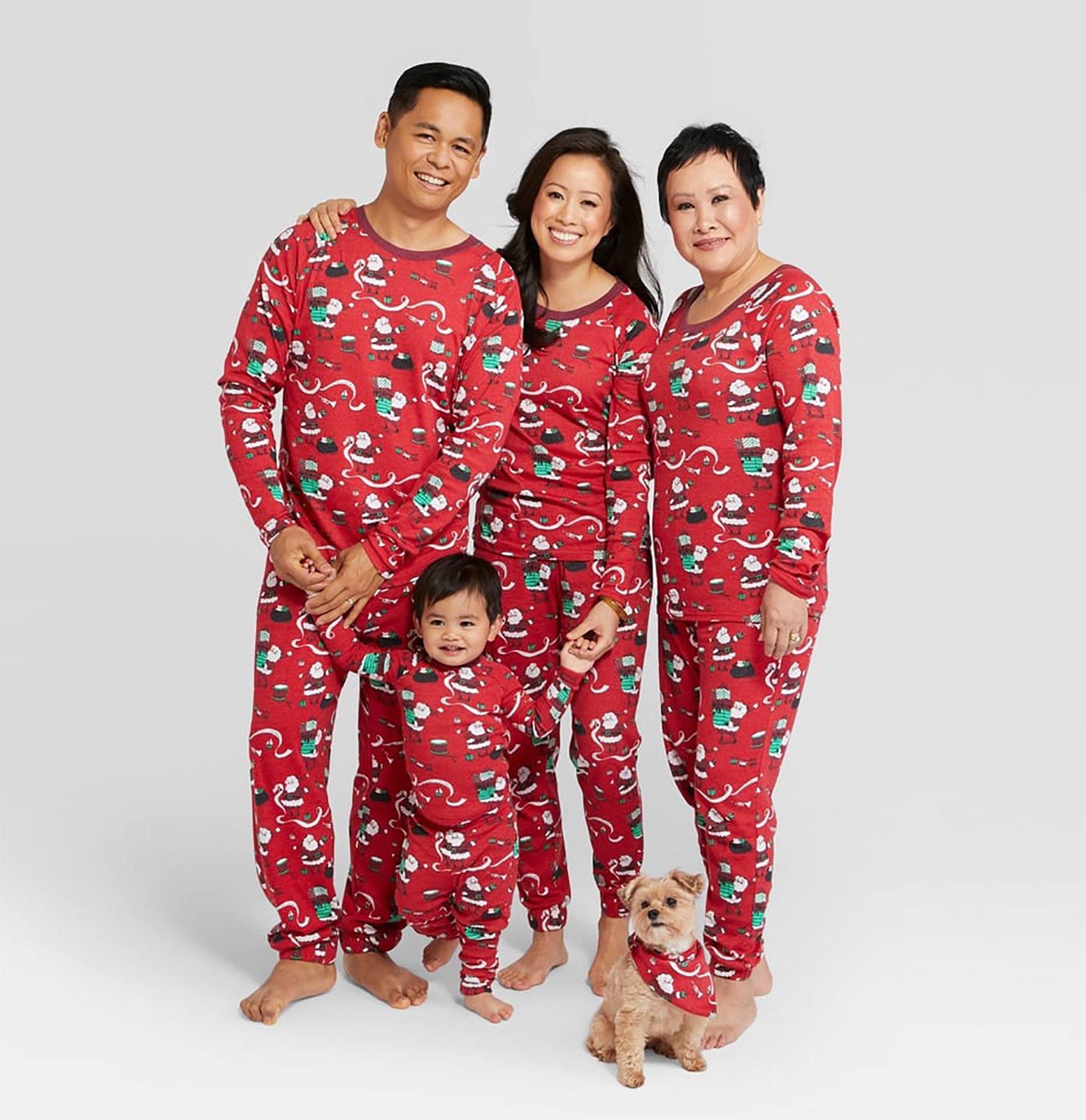 nite nite munki munki holiday santas list family pajamas collection