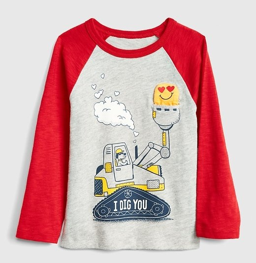 25e26ca7bf0 Valentine Gifts for Boys  Boys Valentine s Day T-Shirt From the Gap