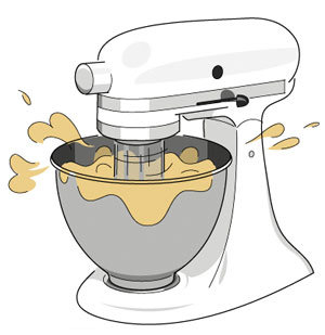 Overmixing Doughs and Batters