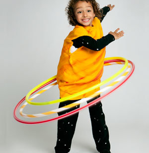 Kid in Saturn costume