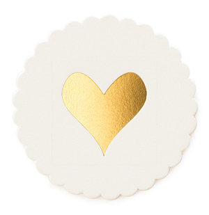 Gold Heart Coasters