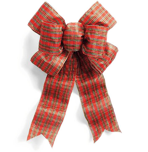 Plaid Outdoor Bow