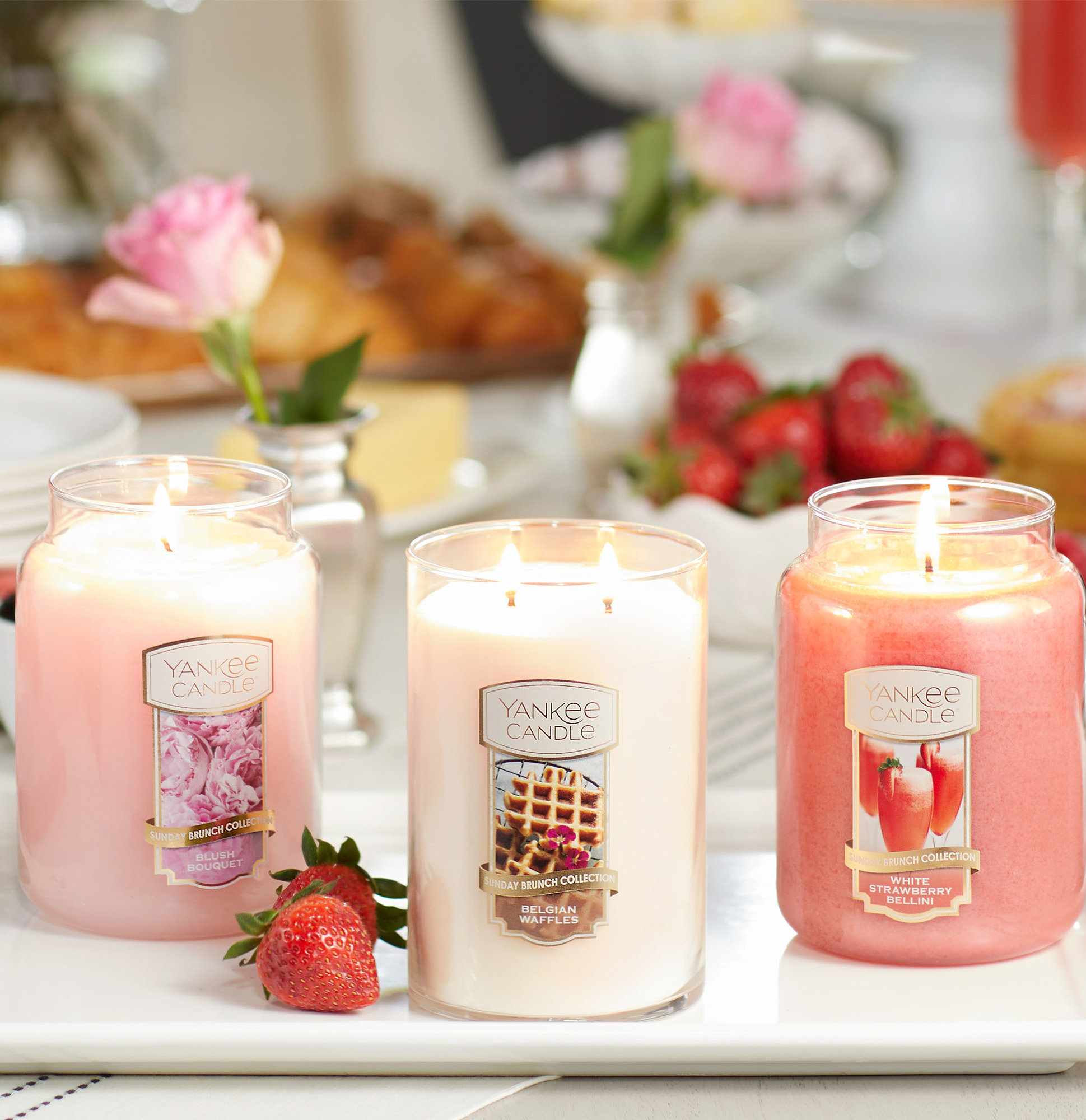 Yankee Candle Brunch Collection Candle in Blush Bouquet