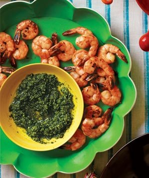 Roasted Shrimp With Pepita Pesto | Mexican Dinner Party Menu - Real ...