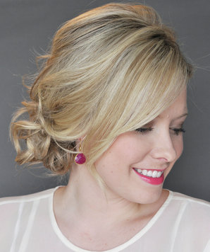 the side updo with a twist  3 pretty party hairstyles