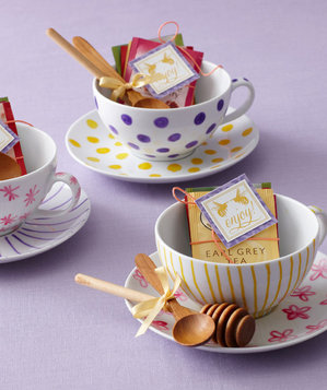 Modern bridal shower tea party favors