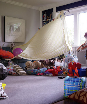 Transform A Corner Amazing Blanket Fort Ideas Real Simple