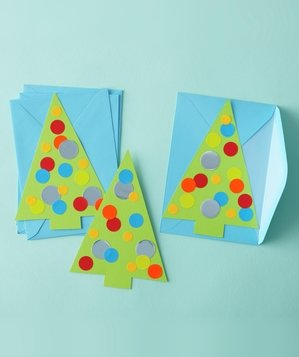 Homemade Christmas tree cards