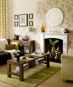 1000 images about accent wall with green furniture on for Simple green living room designs