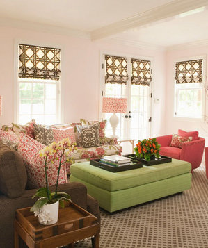 Geometric patterned living room