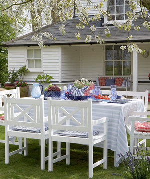 Dining table on the lawn