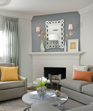 Silver metallic living room