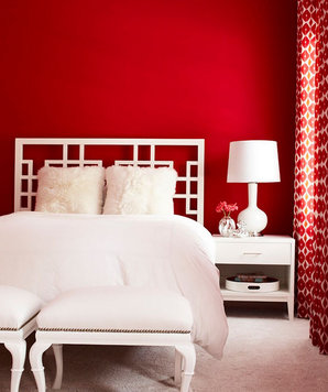 astonishing red white modern bedroom | Amazing Modern Bedroom Ideas