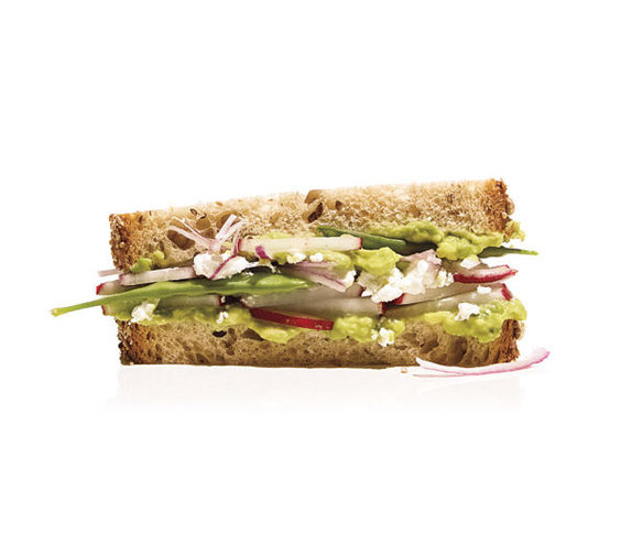 Avocado, Radish, and Snow Pea Sandwich | 13 Tasty Radish Recipes ...