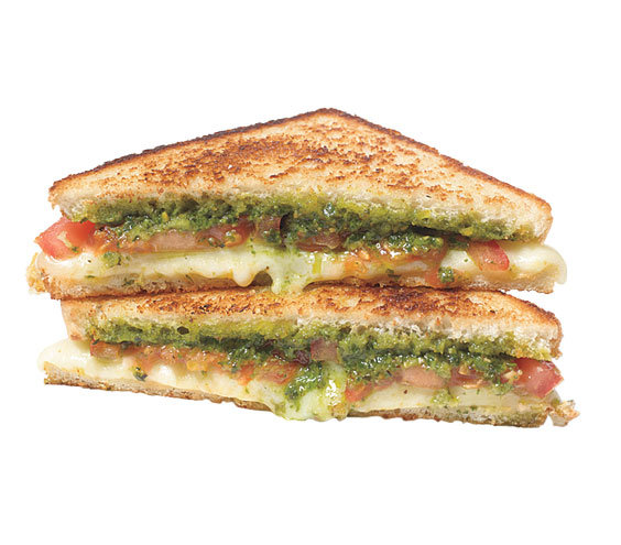 Pesto and Tomato Grilled Cheese | Grilled Cheese Sandwiches, Upgraded ...
