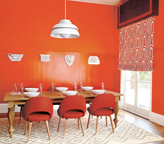 Bright Orange Living Room Accessories: Gorgeous Orange Rooms, Plus Paint And Furniture Picks