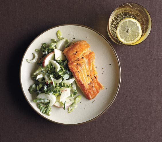 salmon-bok-choy-apple-slaw