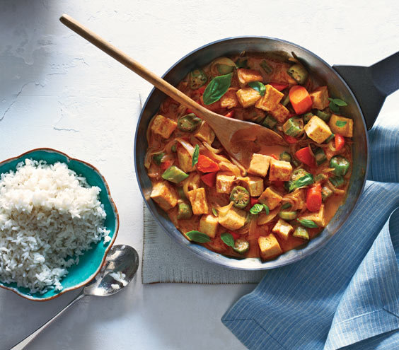 Tofu and Vegetable Curry With Rice Easy and Delicious Tofu