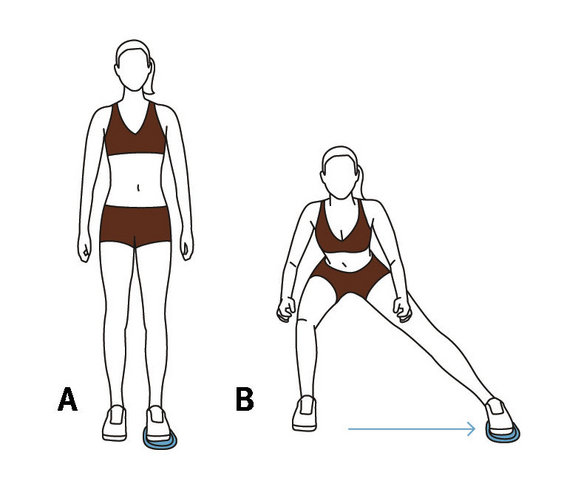 Move 3 Side Lunge 6 Quick Valslide Exercises Real Simple