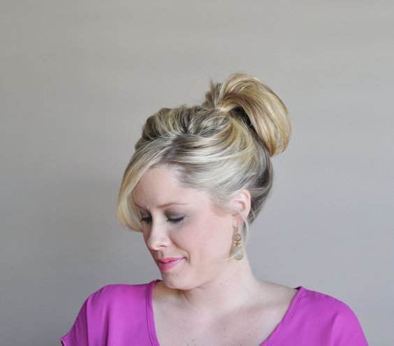 Enjoyable Step 1 How To Make A Fancy Bun Real Simple Hairstyles For Women Draintrainus