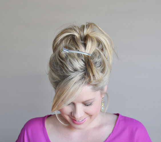 Astounding Step 3 How To Make A Fancy Bun Real Simple Hairstyles For Women Draintrainus