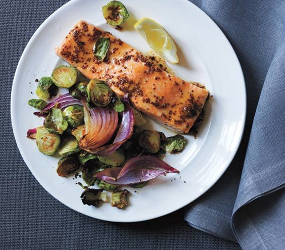 Maple-Glazed Salmon With Roasted Brussels Sprouts | 11 ...