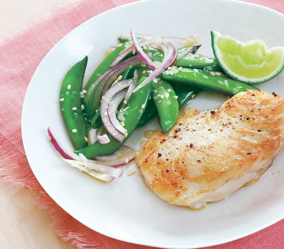12 easy halibut recipes real simple for How to cook halibut fish