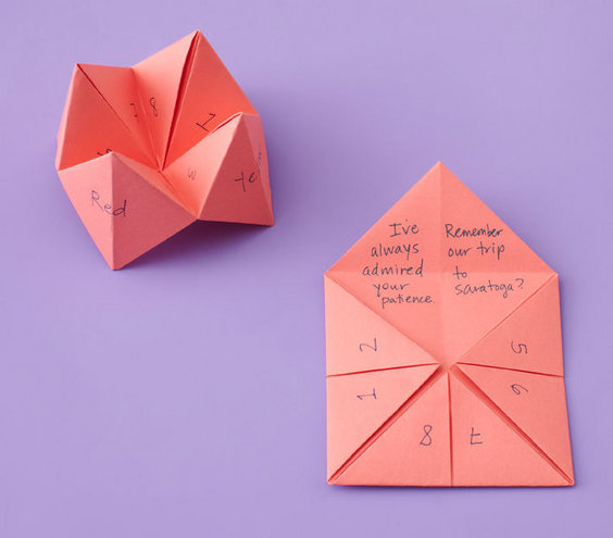 Fortune teller 6 creative mother 39 s day crafts and card Good ideas for mothers day card