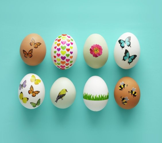 Decorate With Stickers No Dye Easter Egg Decorating