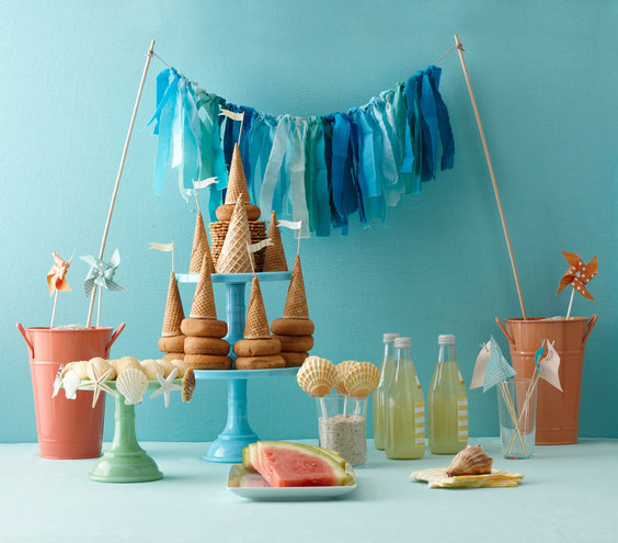 The Table Fun Ideas For Beach Theme Bridal Shower Real