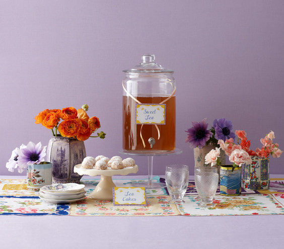 The d cor charming ideas for a modern tea party bridal for How to decorate for a tea party