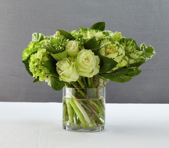 Shades of green gorgeous wedding reception centerpieces